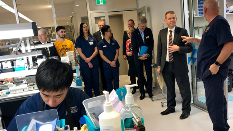 Education minister visits new teaching facility at University of Otago