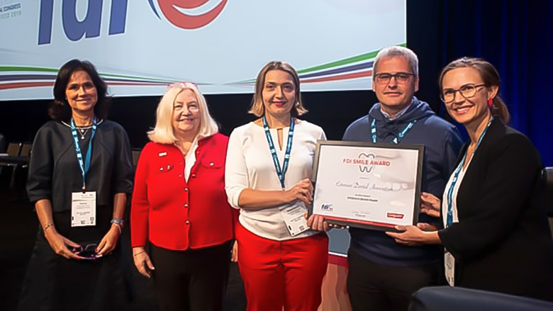 Estonian and Palestinian dental associations receive FDI Smile Awards